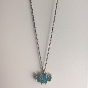 Green and Blue Owl necklace